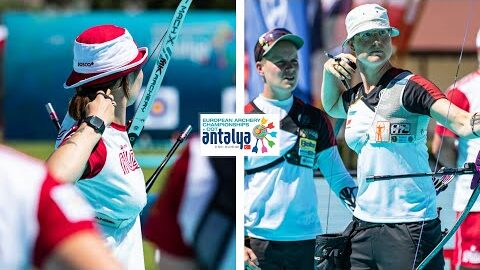 Russia V Germany Recurve Women Team Gold Antalya 2021 European Archery Championships Nme6Ypgj7Sw Image