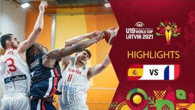 Spain France Full Highlights Fiba U19 Basketball World Cup 2021 Hbewzv906Be Image