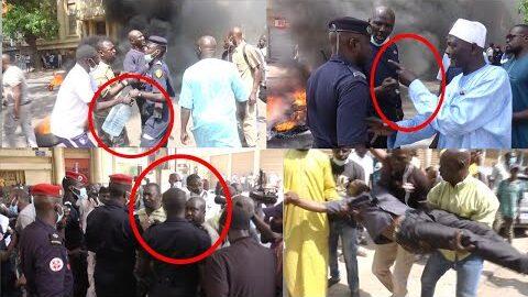 Tristes Images Affr0Ntements Des Militaires Invalides Et Force De Lordre Au Centre De Dakar Pup79Nh07Fk Image
