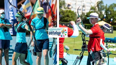 Ukraine V Denmark Recurve Women Team Bronze Antalya 2021 European Archery Championships Zlhvbbso 7A Image