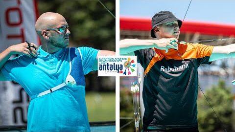 Ukraine V Netherlands Recurve Men Team Gold Antalya 2021 European Archery Championships Arr1M07Vkga Image