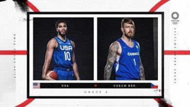 Usa V Czech Republic Watch Along Party Tokyo 2020 Olympic Basketball Tournament Tuxao1Cwuvc Image
