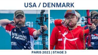 Usa V Denmark Compound Mens Team Gold Paris 2021 Hyundai Archery World Cup S3 Fot4Uz Bkfa Image
