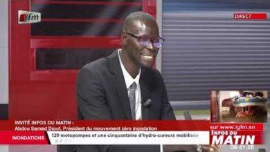 Abdou Samad Dioufpresident Du Mouvement Zero Inondation Invite Dans Infos Du Matin Du 23 Aout 2021 Zvwtzsetg4E Image