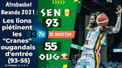 Afrobasket Rwanda 2021 Les Lions Pietinent Les Cranes Ougandais Dentree 93 55 Hz6Omh Qikk Image