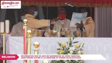 Celebration Des 50 Ans De Sacerdoce Du Pere Cardinal Jean Pierre Kutwa A La Paroisse St Pierre D Qx0Keqmbusm Image
