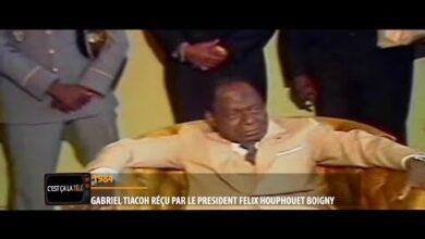 Cest Ca La Tele Gabriel Tiacoh Recu Par Le President Felix Houphouet Boigny En 1984 Mpgctga22Hi Image