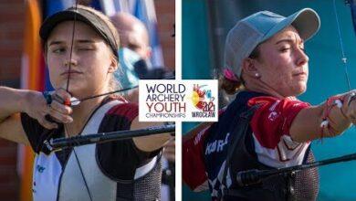 Charline Schwarz V Casey Kaufhold Recurve Junior Women Bronze 2021 World Youth Championships Gbonauakow8 Image