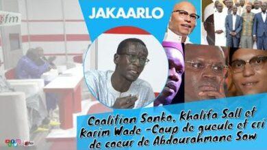 Coalition Sonko Khalifa Sall Et Karim Wade Coup De Gueule Et Cri De Coeur De Abdourahmane Sow I2Qwcn301Ma Image