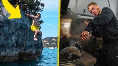 Je Cuisine Dans Patrick Et Concours De Plongeon 5 Vadrouille Improvisee En Van Lebouseuh Dobby 42Hk2Ps Kk8 Image