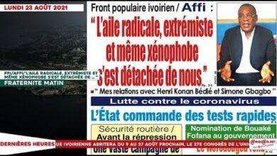 Le Titrologue Du Lundi 23 Aout 2021 Affi Laile Radicale Extremiste Et Meme Xenophobe Sest 6Jcnbszlluy Image