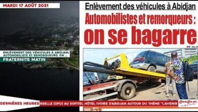 Le Titrologue Du Mardi 17 Aout 2021 Enlevement Des Vehicules A Abidjan Automobiliste Et Remorq Nufnxl1Ra9E Image