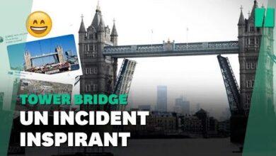Le Tower Bridge De Londres Est Reste Coince En Position Ouverte Et Ca Vaut Le Detournement Yxhgsrvgwya Image