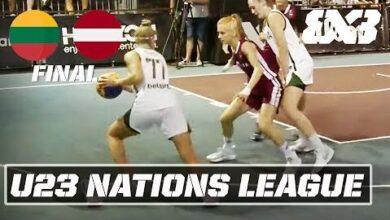 Lithuania Vs Latvia Womens Final Full Fiba 3X3 U23 Nations League 2021 Stop 4 V7Dnbnthyce Image