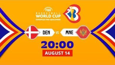 Live Denmark V Montenegro Fiba Basketball World Cup 2023 European Pre Qualifiers 2021 Qvwiqvvyrmu Image