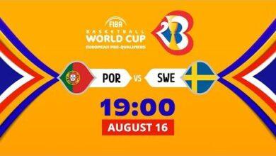 Live Portugal V Sweden Fiba Basketball World Cup 2023 European Pre Qualifiers H5C0X2Wkl W Image