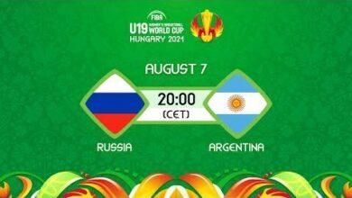 Live Russia V Argentina Fiba U19 Womens Basketball World Cup 2021 Kib5D0Axqtm Image