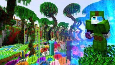 Parcours Minecraft Avec Un Arc A Arbres Parkour Biomes Bow F Utyfvxtw8 Image