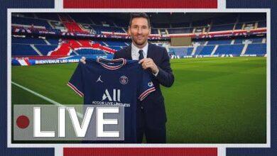 Presentation De Leo Messi En Direct Du Parc Des Princes Vd4Semglph8 Image