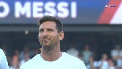 Psg Lionel Messi Presente Devant Un Parc Des Princes Bouillant R Ckrhqgiwm Image