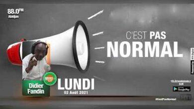 Radio Cote Divoire Cest Pas Normal Du 02 Aout 2021 Par Didier Fandin Richmond I0Szfmy6Hmq Image