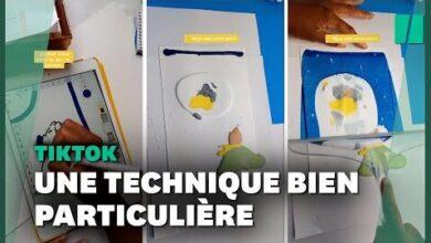 Sur Tiktok Cette Jeune Peintre Nutilise Pas De Pinceau Mais Bien Une Raclette P3Nytemwkn0 Image