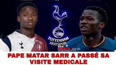 Tottenham Pape Matar Sarr A Passe Sa Visite Medicale Avec Succes Signature Bientot Iyloawbwgwq Image