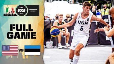 Usa V Estonia Mens Final Full Game Fiba 3X3 U18 World Cup 2021 Ppy2Z6Lho6E Image