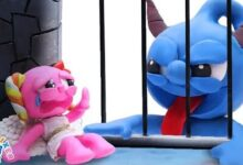 Blue Diable Et Pink Ange Animated Cartoons Characters Ficppzga15K Image