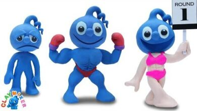 Blue En Transition Animated Cartoons Characters Clay Mixer Heroes D67Gnj04Ers Image