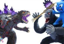 Blue Et La Grande Bataille De Kong Vs Godzilla Argile Stop Motion Dessin Anime Clay Mixer Francais Dsk Opnvchm Image