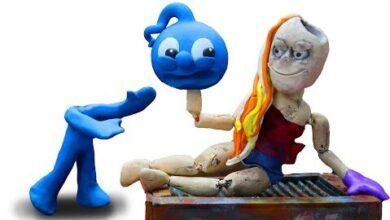 Blue Et Le Monstre Scp 847 Argile Stop Motion Dessin Anime Clay Mixer Francais Uqe Namyb3E Image