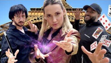 Des Tours De Magie Sur La Tour Eiffel Red6Eq0Pxwc Image