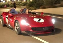 Ferrari Monza Sp2 Start Up Driving In Monaco Fdzgfa85Hee Image