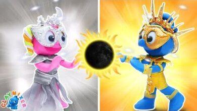 Le Soleil Et La Lune Argile Stop Motion Dessin Anime Clay Mixer Francais Xj8D43Ymzyw Image