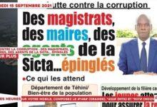 Le Titrologue Du 15 Septembre 2021 Lutte Contre La Corruption Des Magistratsepingles Dsann35Hs78 Image