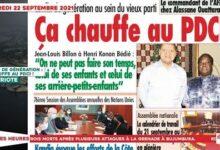 Le Titrologue Du 22 Septembre 2021 Conflit De Generation Ca Chauffe Au Pdci Tktrej7Nbu0 Image