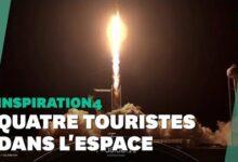 Les Images Du Decollage De La Fusee Spacex Avec Quatre Touristes Spatiaux Skbmv0Rdq2U Image