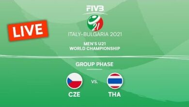 Live Cze Vs Tha Pre Round Mens U21 Volleyball World Champs 2021 Ct0M32N8Al8 Image
