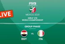 Live Egy Vs Ita Group Phase Girls U18 Volleyball World Champs 2021 Dpuphsex9Am Image