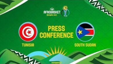Live Tunisia V South Sudan Press Conference Fiba Afrobasket Pawow M1A8M Image