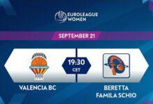 Live Valencia Bc V Beretta Famila Schio Euroleague Women 2021 22 Qualifiers N33Shvnagxw Image
