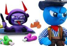 Nessayez Pas De Vous Enfuir Avec Le Sherif Blue Argile Dessin Anime Clay Mixer Francais Yxhair6Amkg Image