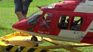 Rc Scale Turbine Model Helicopterambulance Rega Agusta Aw 109 Special Transporter Umo6Damblaq Image