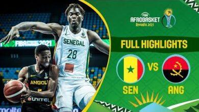 Senegal Angola Game Highlights Fiba Afrobasket 2021 Jgnnndnm2Nw Image