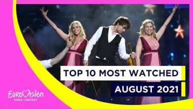 Top 10 Most Watched In August 2021 Eurovision Song Contest Weef3Xuvchk Image