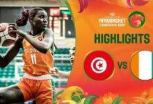 Tunisia Cote Divoire Game Highlights Fiba Womens Afrobasket 2021 Swtr8Gf Bw4 Image
