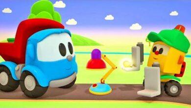 Tv Pour Enfant Dessin Anime Pour Les Petits Leo Le Camion Fabrique Une Lampe De Table 1Vakkgh8W8M Image