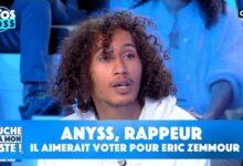 Anyss Rappeur Explique Pourquoi Il Aimerait Voter Pour Eric Zemmour En 2022 Dafddrhhajc Image