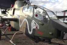 Giant Rc Scale Helicopter Turbine Cobra Bell Ah 1 Model With Missile Launcher Gy Axlktxbk Image
